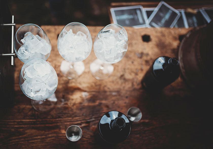 Edelschwarz Organic Gin on ice